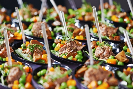 catering services background with snacks and food in restaurant Stock Photo - 24606978