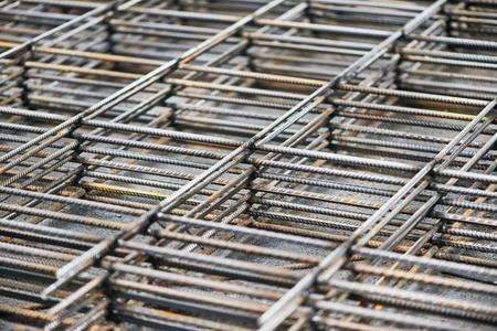 tas de métal acier des barres d'armature en treillis fond