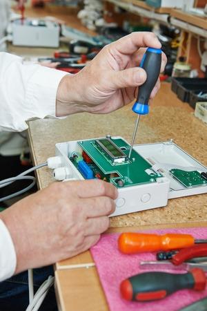 assembling: Technology process of microchip device assembling at manufacture