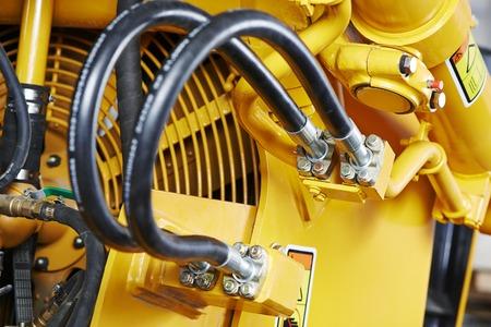 mangera: Sistema de tuberías de presión hidráulica de la maquinaria de construcción