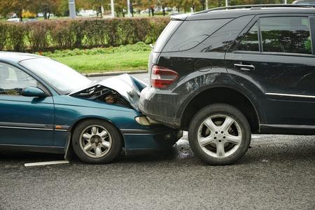 auto-ongeluk botsing ongeluk op een stadsweg