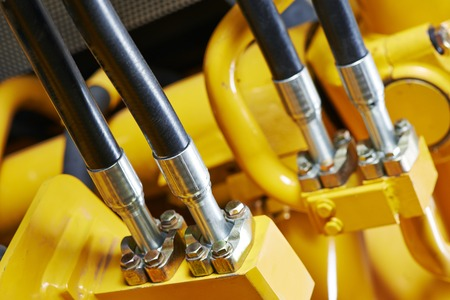 jack pump: Hydraulic pressure pipes system of construction machinery