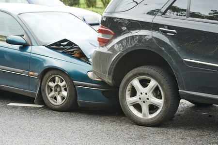 automobiles: automobile crash accident on street, damaged cars after collision in city