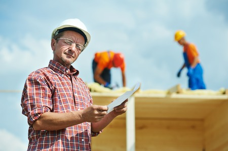 construction engeneer worker project manager at building site
