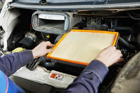 air filter: Car servicing, air filter replacing maintenace