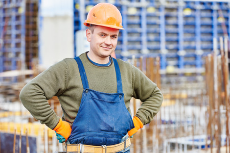 erector: construction builder worker at building site