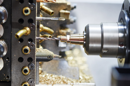 tool chuck: industrial metal work machining cutting process of blank detail by drilling