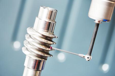 3-D te coördineren meten van versnelling overbrengen worm staal detail Stockfoto - 40085729