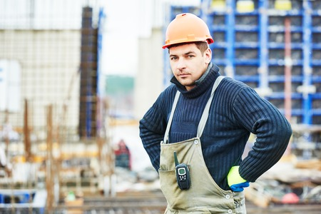 builder: construction builder worker at building site