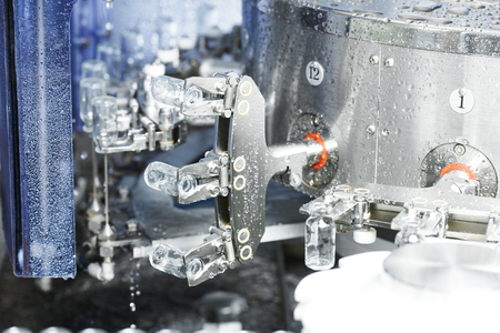 sterility: pharmaceutical medicine industrial washer cleaning and drying machine for powder drugs glassware bottles Stock Photo