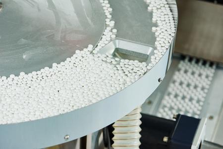 pharmaceutique comprimé médecine production pilule fond lors de la fabrication de l'industrie de la pharmacie