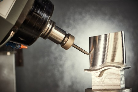 rapid steel: Milling cutting metalworking process. Precision industrial CNC machining of metal detail by mill at factory