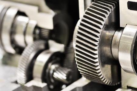 Close-up Räder Metall Rädchen im Getriebe in Getriebe Standard-Bild - 60248306