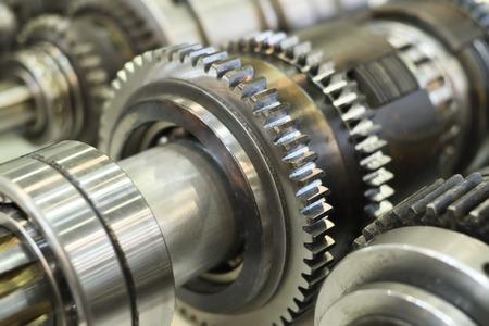 Close-up Räder Metall Rädchen im Getriebe in Getriebe Standard-Bild - 60248321