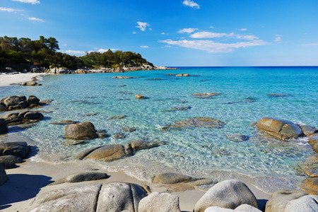Sea tropical beach with turquoise water in Italian island Sardinia