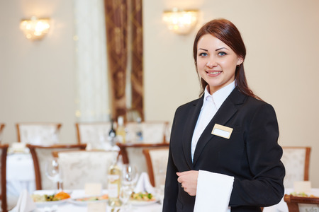 Waiter Manager Occupation. Female Waitress At Restaurant Catering.. Stock  Photo, Picture And Royalty Free Image. Image 64987218.  Catering Manager