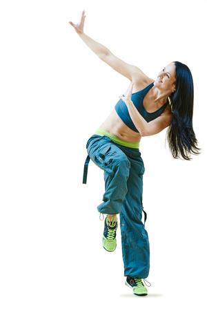 zumba dancing fitness exercises Stock Photo