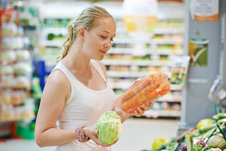 shopping woman at store photo