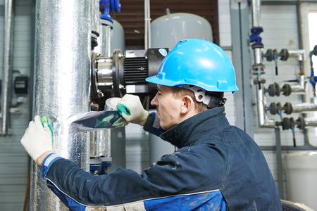 work worker: industrial worker at insulation work