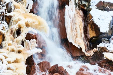 frozen winter: Frozen waterfall in winter