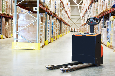 warehouse: Pallet truck at warehouse