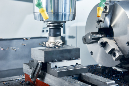 heavy: industrial metalworking cutting process by milling cutter