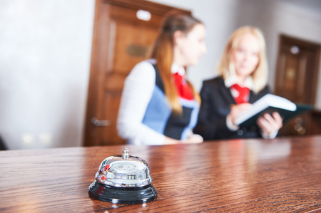 desk clerk: Hotel reception frontdesk workers