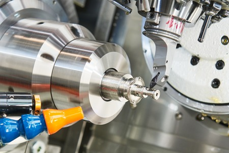 industry: cutting tool at metal working on lather machine