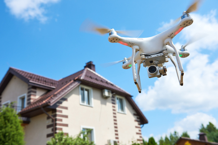 drone usage. private property protection or real estate check