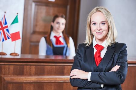 Hotel reception worker