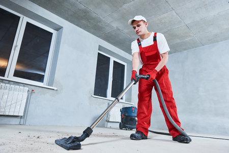cleaning service. dust removal with vacuum cleaner
