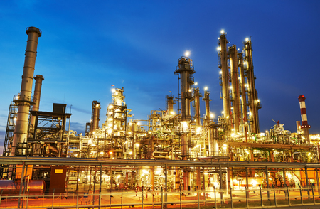 Oil refinery plant or factory 스톡 콘텐츠