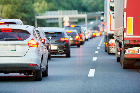 verkeersopstopping of instorting op autostrada snelweg weg