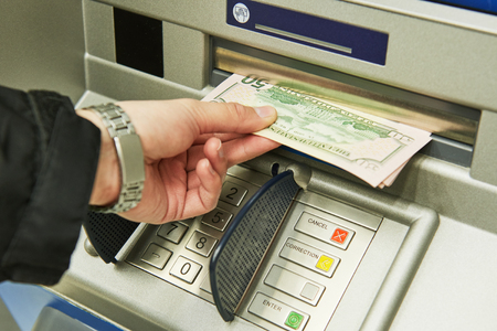Dollar cash withdrawal from ATM