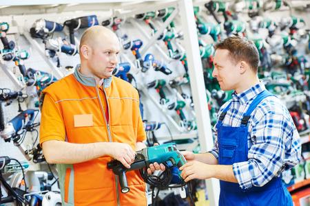 Hardwarer store worker or buyer Standard-Bild