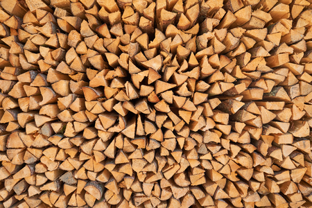 Pine timber. firewood background