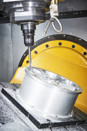 cutting tool at metal machining working at CNC machine