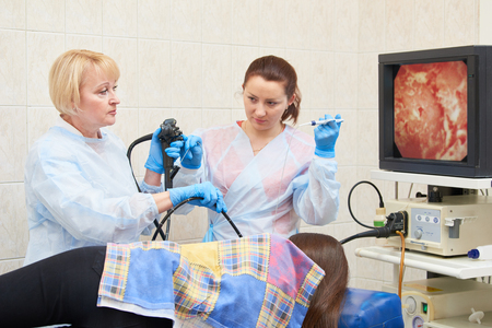 gastrointestinal fiberoptic endoscopy Stock Photo