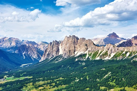 Dolomite mountains near Cortina dAmpezzo. Pomagagnon mountain Stock Photo