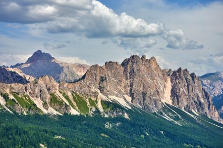 Dolomite mountains near Cortina dAmpezzo. Pomagagnon mountain Reklamní fotografie
