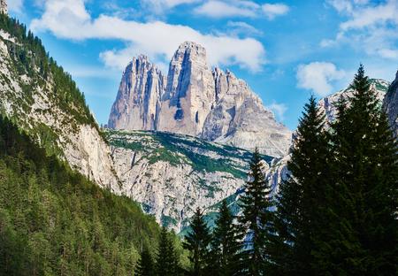 Dolomite mountains near Cortina dAmpezzo. Monte Piana peak