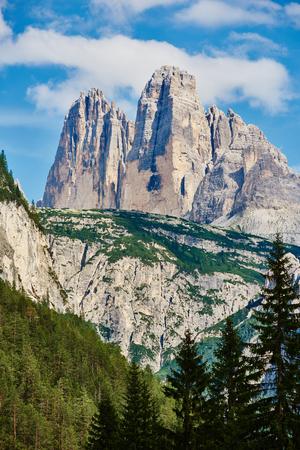 Monte Piana peak. Dolomite mountains near Cortina dAmpezzo