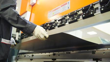 hydraulic press brake or bending machine for flat sheet metal.