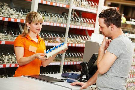 man shopping at hardware supermarket