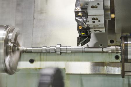 CNC lather machine. cutting tool at metal working Reklamní fotografie