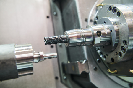 metalworking milling process on lathe CNC center