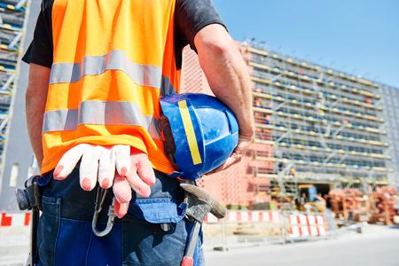 builder worker on construction site Reklamní fotografie