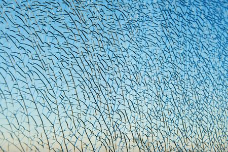 Car accident. Broken cracked automobile windshield glass Reklamní fotografie