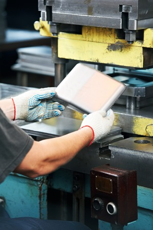 Sheet metal processing on hydraulic punch press