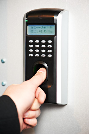 identification. Fingerprint scanning is used to pass access control